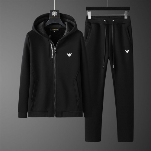 Armani Tracksuits Long Sleeved Zipper For Men #810566
