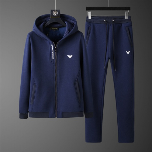 Armani Tracksuits Long Sleeved Zipper For Men #810567