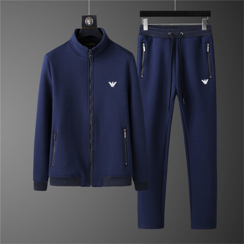 Armani Tracksuits Long Sleeved Zipper For Men #810569