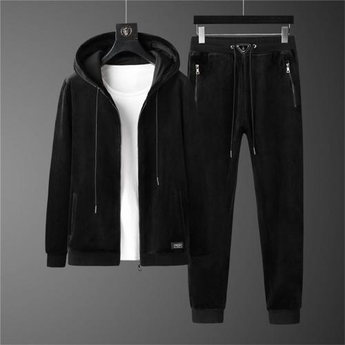 Prada Tracksuits Long Sleeved Zipper For Men #810571
