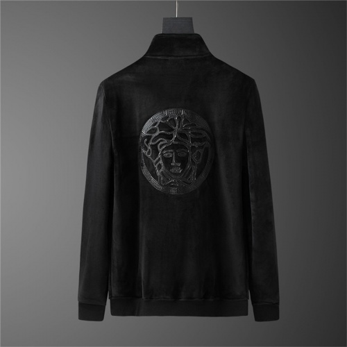 Replica Versace Tracksuits Long Sleeved Zipper For Men #810577 $98.00 USD for Wholesale