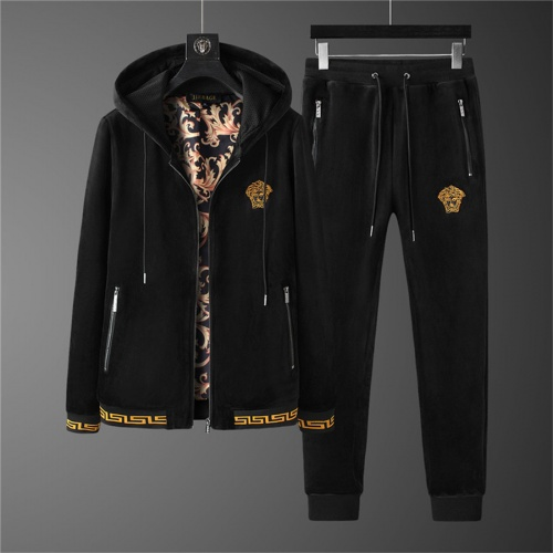 Versace Tracksuits Long Sleeved Zipper For Men #810589 $98.00 USD, Wholesale Replica Versace Tracksuits