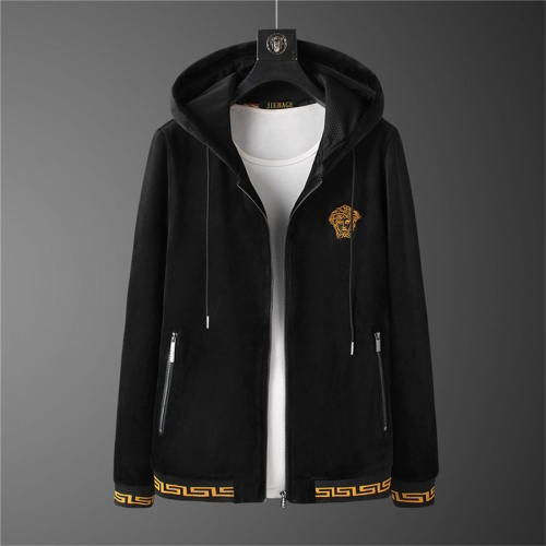 Replica Versace Tracksuits Long Sleeved Zipper For Men #810589 $98.00 USD for Wholesale