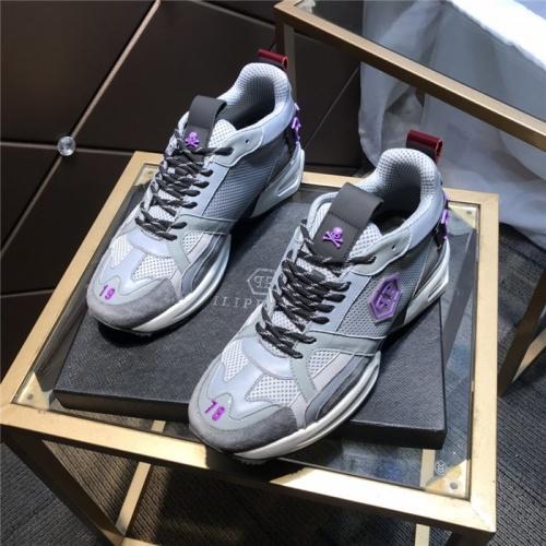 Philipp Plein PP Casual Shoes For Men #810640 $115.00, Wholesale Replica Philipp Plein Shoes