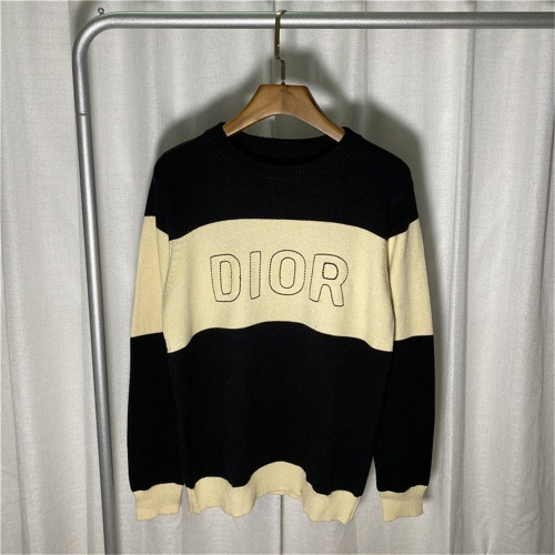 Christian Dior Sweaters Long Sleeved O-Neck For Men #810714