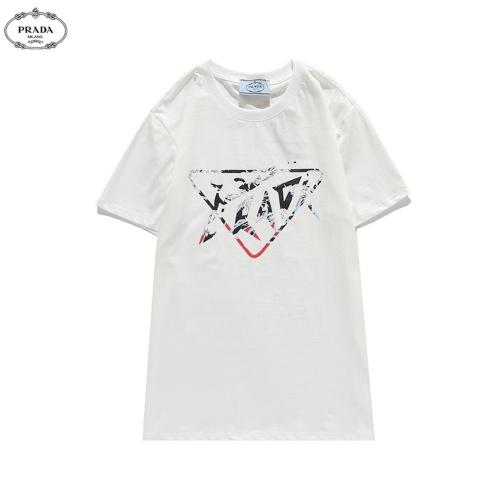 Prada T-Shirts Short Sleeved O-Neck For Men #810780 $27.00 USD, Wholesale Replica Prada T-Shirts