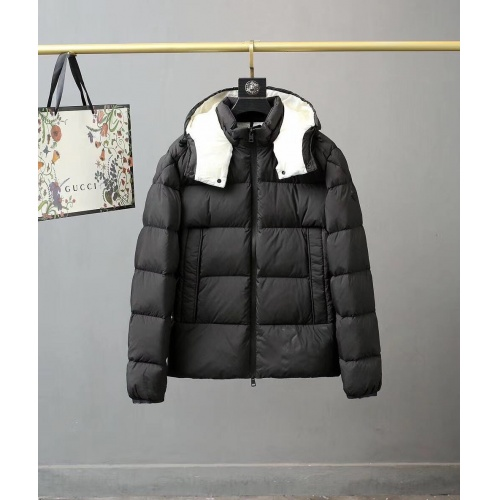 Moncler Down Feather Coat Long Sleeved Zipper For Men #810781