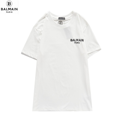 Balmain T-Shirts Short Sleeved O-Neck For Men #810791