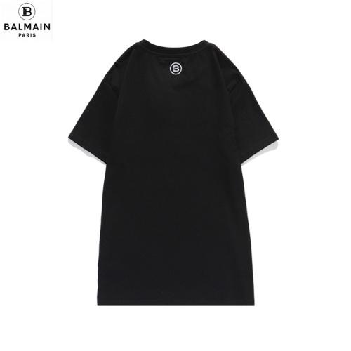 Replica Balmain T-Shirts Short Sleeved O-Neck For Men #810792 $27.00 USD for Wholesale