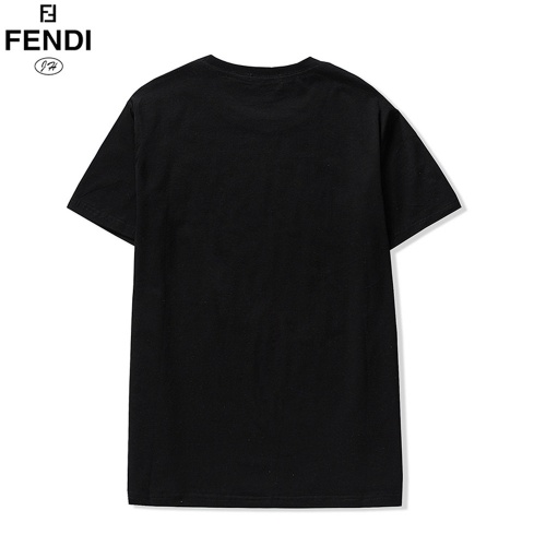 Replica Fendi T-Shirts Short Sleeved O-Neck For Men #810795 $29.00 USD for Wholesale