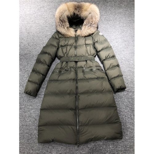 Moncler Down Feather Coat Long Sleeved Zipper For Women #810814