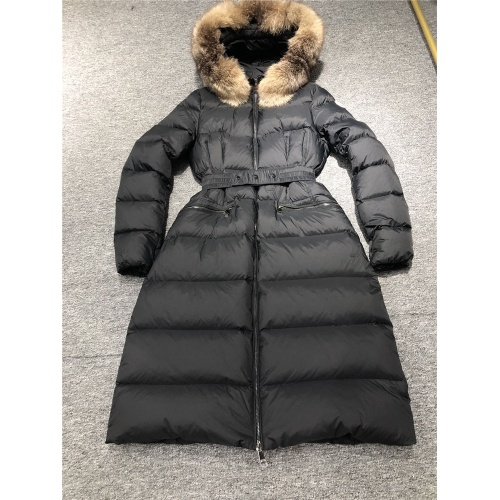 Moncler Down Feather Coat Long Sleeved Zipper For Women #810815