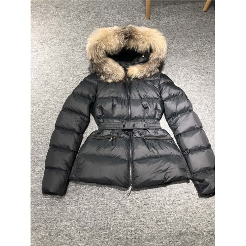 Moncler Down Feather Coat Long Sleeved Zipper For Women #810819
