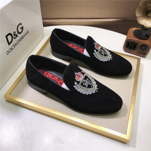 Dolce & Gabbana D&G Leather Shoes For Men #810942