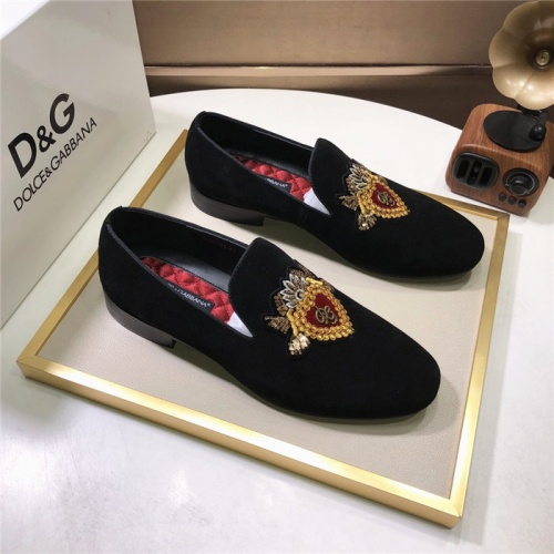 Dolce & Gabbana D&G Leather Shoes For Men #810944