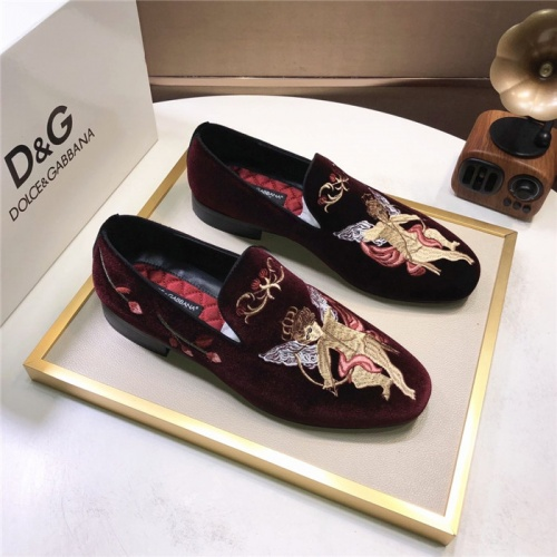 Dolce & Gabbana D&G Leather Shoes For Men #810945