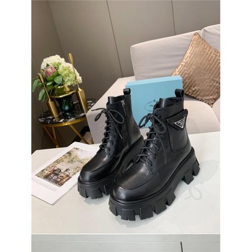 Prada Boots For Women #811049 $115.00 USD, Wholesale Replica Prada Boots