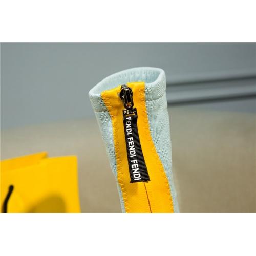 Replica Fendi Boots For Women #811068 $100.00 USD for Wholesale