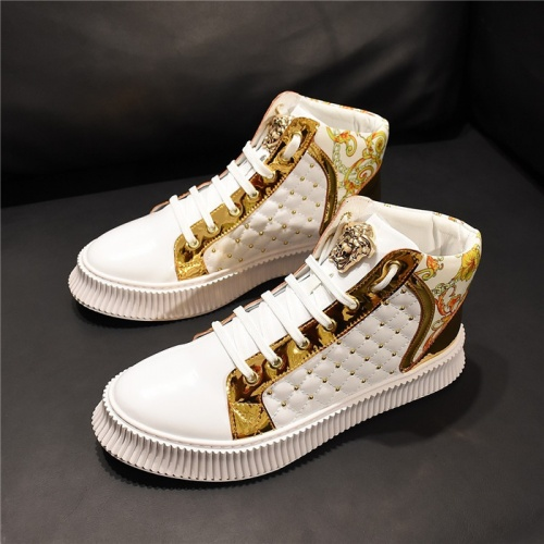 Versace High Tops Shoes For Men #811115