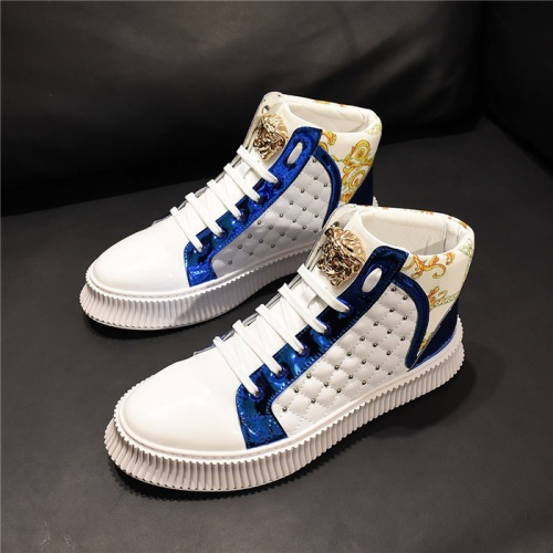 Versace High Tops Shoes For Men #811116