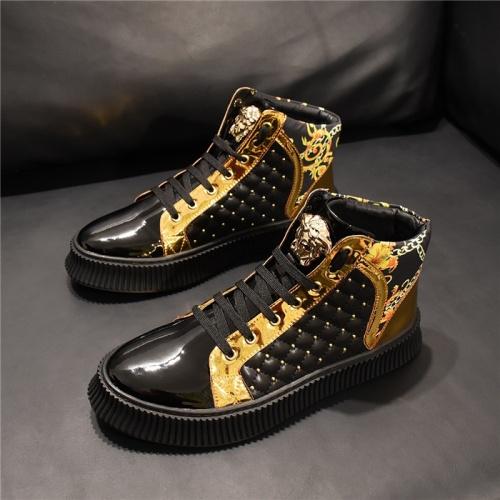 Versace High Tops Shoes For Men #811117 $80.00 USD, Wholesale Replica Versace High Tops Shoes