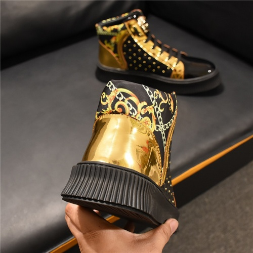 Replica Versace High Tops Shoes For Men #811117 $80.00 USD for Wholesale