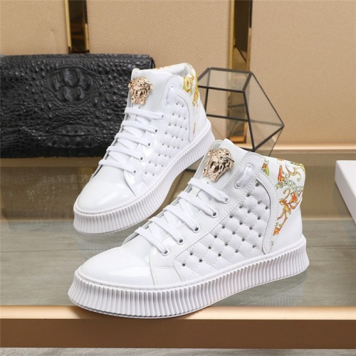 Versace High Tops Shoes For Men #811132 $80.00, Wholesale Replica Versace High Tops Shoes