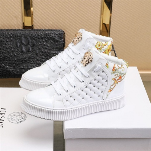 Replica Versace High Tops Shoes For Men #811132 $80.00 USD for Wholesale