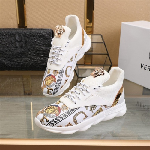 Versace Casual Shoes For Men #811473 $80.00, Wholesale Replica Versace Casual Shoes