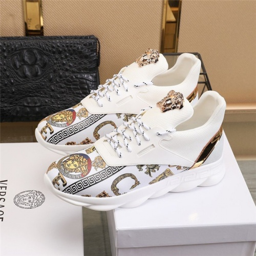 Replica Versace Casual Shoes For Men #811473 $80.00 USD for Wholesale
