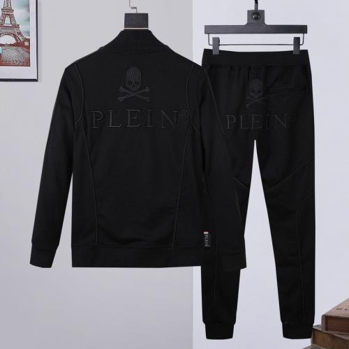 Philipp Plein PP Tracksuits Long Sleeved Zipper For Men #811775