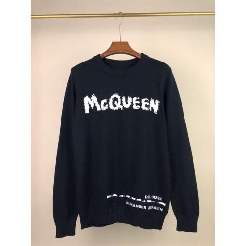 Alexander McQueen Sweater Long Sleeved O-Neck For Men #811776 $45.00 USD, Wholesale Replica Alexander McQueen Sweater