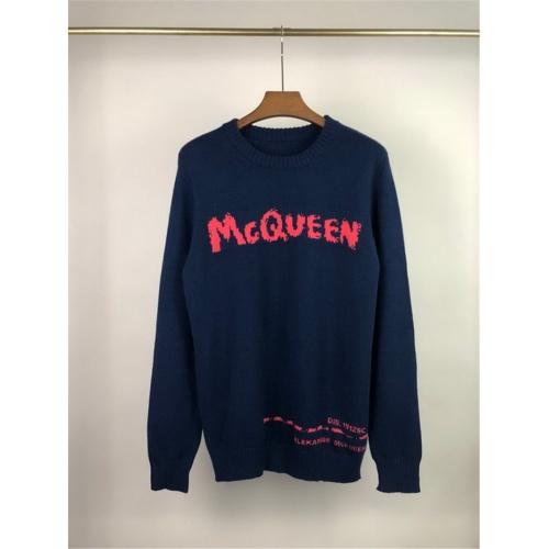 Alexander McQueen Sweater Long Sleeved O-Neck For Men #811777 $45.00 USD, Wholesale Replica Alexander McQueen Sweater