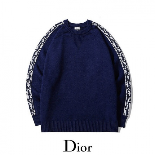 Christian Dior Sweaters Long Sleeved O-Neck For Men #811807 $45.00, Wholesale Replica Christian Dior Sweaters