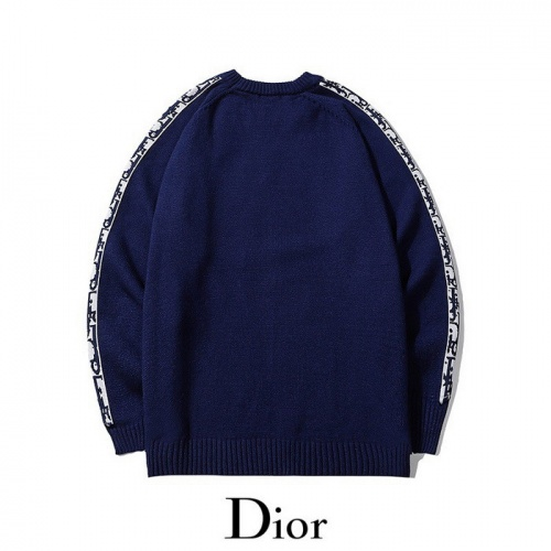 Replica Christian Dior Sweaters Long Sleeved O-Neck For Men #811807 $45.00 USD for Wholesale