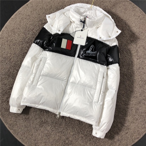Moncler Down Feather Coat Long Sleeved Zipper For Men #811866