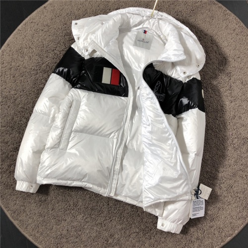 Replica Moncler Down Feather Coat Long Sleeved Zipper For Men #811866 $195.00 USD for Wholesale