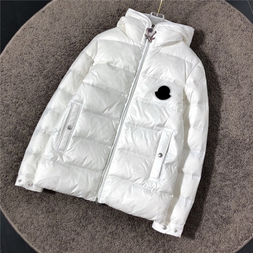 Moncler Down Feather Coat Long Sleeved Zipper For Men #811868 $172.00, Wholesale Replica Moncler Down Feather Coat