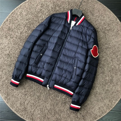 Moncler Down Feather Coat Long Sleeved Zipper For Men #811875