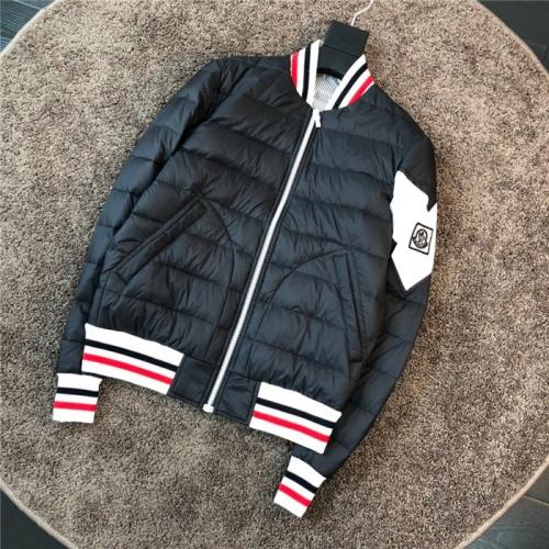 Moncler Down Feather Coat Long Sleeved Zipper For Men #811877