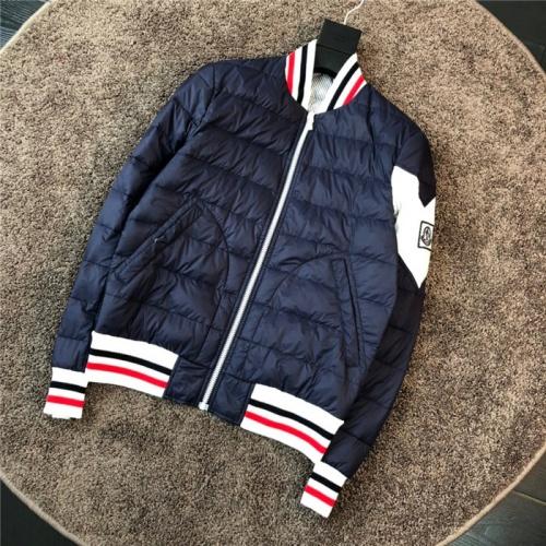 Moncler Down Feather Coat Long Sleeved Zipper For Men #811878