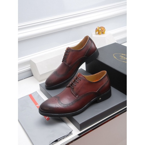 Prada Leather Shoes For Men #811927