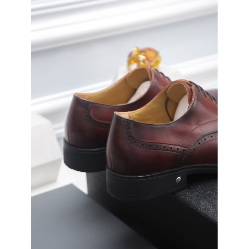 Replica Prada Leather Shoes For Men #811927 $82.00 USD for Wholesale