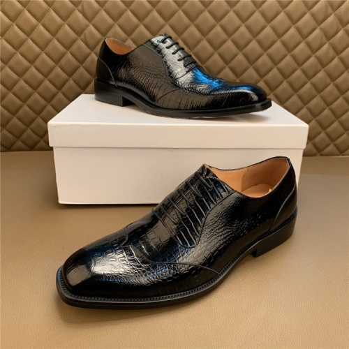 Versace Leather Shoes For Men #812045 $102.00 USD, Wholesale Replica Versace Leather Shoes