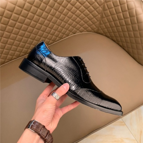 Replica Versace Leather Shoes For Men #812045 $102.00 USD for Wholesale