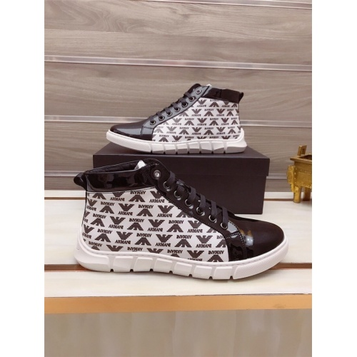 Armani High Tops Shoes For Men #812066