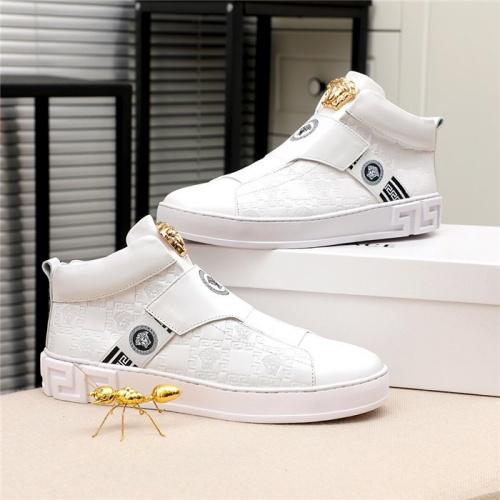 Versace High Tops Shoes For Men #812081 $80.00, Wholesale Replica Versace High Tops Shoes
