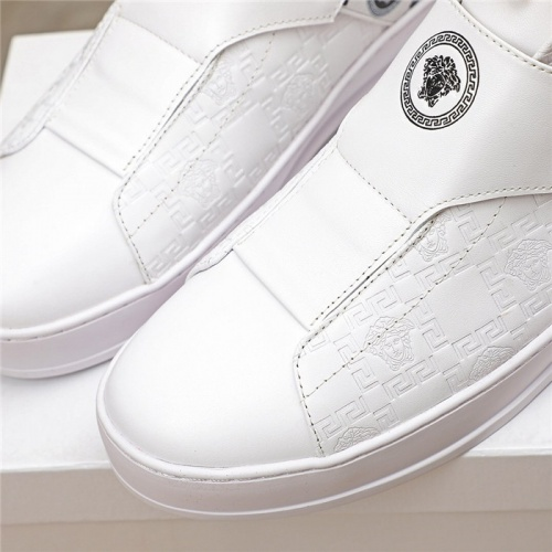 Replica Versace High Tops Shoes For Men #812081 $80.00 USD for Wholesale
