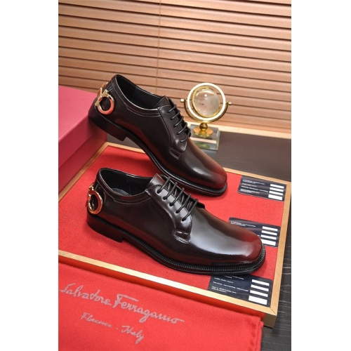 Ferragamo Salvatore FS Leather Shoes For Men #812233