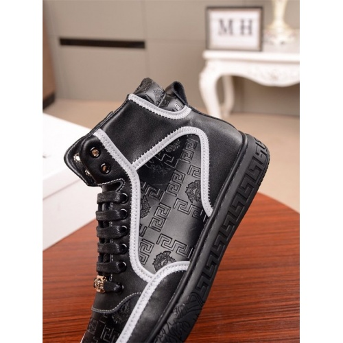 Replica Versace High Tops Shoes For Men #812241 $85.00 USD for Wholesale